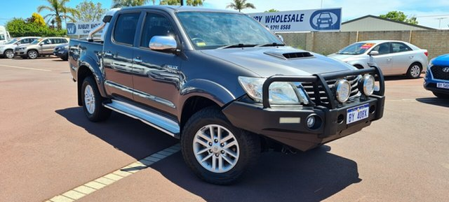 Used Toyota Hilux KUN26R MY12 SR5 Double Cab East Bunbury, 2013 Toyota Hilux KUN26R MY12 SR5 Double Cab Grey 5 Speed Manual Utility