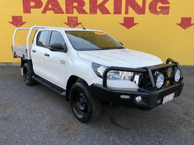 Used Toyota Hilux GUN126R SR Double Cab Winnellie, 2018 Toyota Hilux GUN126R SR Double Cab White 6 Speed Sports Automatic Cab Chassis