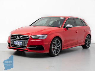 2014 Audi S3 8V MY14 2.0 TFSI Quattro Red 6 Speed Direct Shift Hatchback.