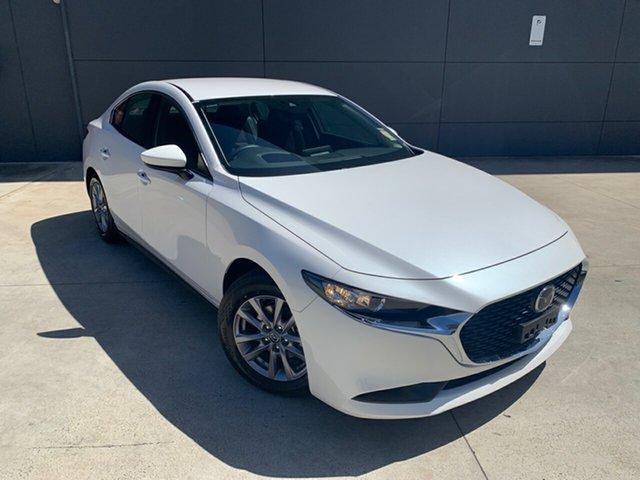 New Mazda 3 BP2S7A G20 SKYACTIV-Drive Pure Alexandria, 2020 Mazda 3 BP2S7A G20 SKYACTIV-Drive Pure Snowflake White 6 Speed Sports Automatic Sedan