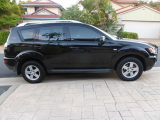 2009 Mitsubishi Outlander ZG MY09 LS Black 6 Speed CVT Auto Sequential Wagon.
