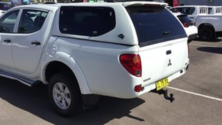 2012 Mitsubishi Triton MN MY12 GLX White 5 Speed Manual Cab Chassis