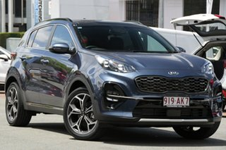 2020 Kia Sportage QL MY21 GT-Line AWD Mercury Blue 6 Speed Sports Automatic Wagon.