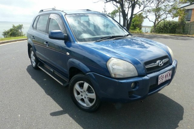Used Hyundai Tucson JM City Gladstone, 2006 Hyundai Tucson JM City Blue 4 Speed Sports Automatic Wagon