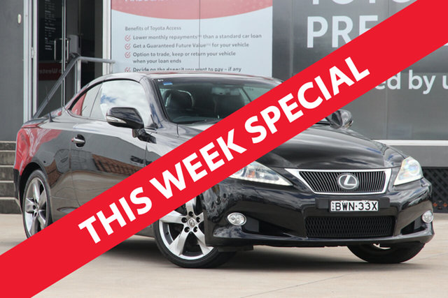 Used Lexus IS250C GSE20R MY11 Sports Luxury Guildford, 2010 Lexus IS250C GSE20R MY11 Sports Luxury Black 6 Speed Automatic Convertible