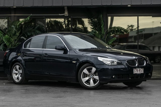 Used BMW 5 Series E60 525i Steptronic Bowen Hills, 2006 BMW 5 Series E60 525i Steptronic Blue 6 Speed Sports Automatic Sedan