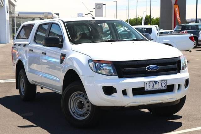 Used Ford Ranger PX XL Hi-Rider Essendon Fields, 2015 Ford Ranger PX XL Hi-Rider White 6 Speed Sports Automatic Cab Chassis