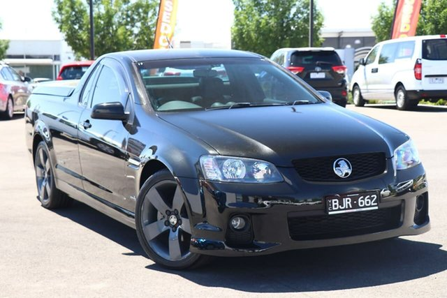 Used Holden Ute VE II SV6 Essendon Fields, 2011 Holden Ute VE II SV6 Black 6 Speed Sports Automatic Utility