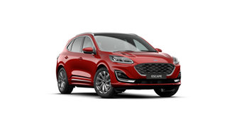 2020 Ford Escape ZH 2021.25MY Vignale AWD Lucid Red 8 Speed Sports Automatic SUV