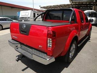 2012 Nissan Navara D40 MY12 ST (4x4) Red 6 Speed Manual Dual Cab Pick-up.