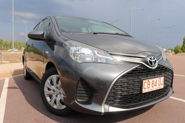 Pre-Owned Toyota Yaris NCP130R Ascent Palmerston, 2015 Toyota Yaris NCP130R Ascent Graphite 4 Speed Automatic Hatchback