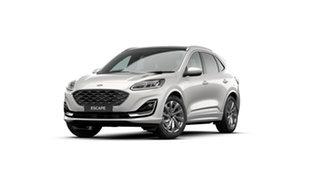 2021 Ford Escape ZH MY21.25 Vignale (AWD) White Platinum 8 Speed Automatic SUV.
