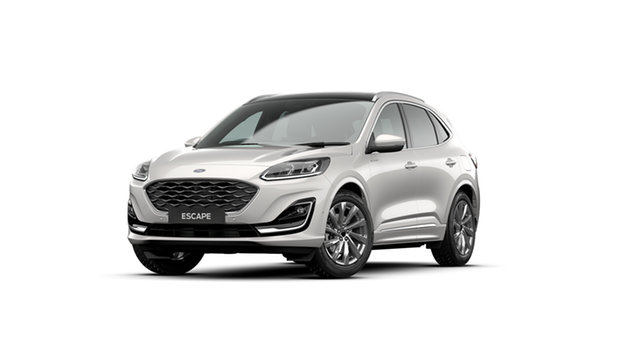 New Ford Escape 2020.75MY Vignale AWD Elizabeth, 2020 Ford Escape 2020.75MY Vignale AWD White Platinum 8 Speed Sports Automatic SUV