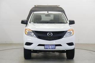 2014 Mazda BT-50 UP0YF1 XT White 6 Speed Manual Cab Chassis.