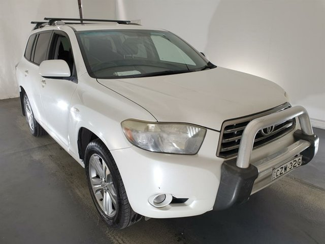 Used Toyota Kluger GSU45R KX-S AWD Maryville, 2008 Toyota Kluger GSU45R KX-S AWD White 5 Speed Sports Automatic Wagon