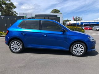 2020 Skoda Fabia NJ MY20.5 81TSI DSG Blue 7 Speed Sports Automatic Dual Clutch Hatchback.