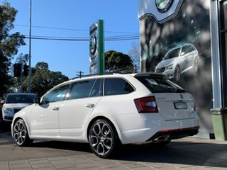 2020 Skoda Octavia NE MY20.5 RS DSG 245 White 7 Speed Sports Automatic Dual Clutch Wagon