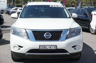2015 Nissan Pathfinder R52 MY15 ST X-tronic 2WD White 1 Speed Constant Variable Wagon.