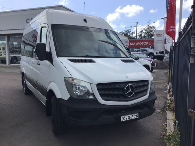 Pre-Owned Mercedes-Benz Sprinter NCV3 MY14 310CDI Low Roof SWB 7G-Tronic Cardiff, 2014 Mercedes-Benz Sprinter NCV3 MY14 310CDI Low Roof SWB 7G-Tronic White 7 Speed Sports Automatic