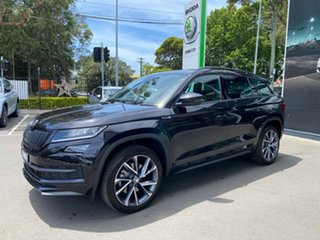 2020 Skoda Kodiaq NS MY20.5 132TSI DSG Sportline Black 7 Speed Sports Automatic Dual Clutch Wagon.