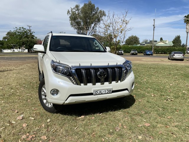 Used Toyota Landcruiser Prado GDJ150R Kakadu Moree, 2016 Toyota Landcruiser Prado GDJ150R Kakadu White 6 Speed Sports Automatic Wagon