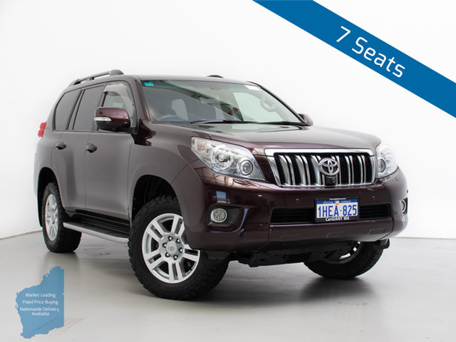 Used Toyota Landcruiser Prado KDJ150R 11 Upgrade Kakadu (4x4), 2011 Toyota Landcruiser Prado KDJ150R 11 Upgrade Kakadu (4x4) Dark Furnace 5 Speed Sequential Auto