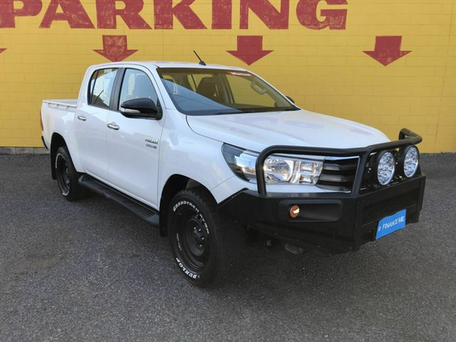Used Toyota Hilux GUN136R SR Double Cab 4x2 Hi-Rider Winnellie, 2017 Toyota Hilux GUN136R SR Double Cab 4x2 Hi-Rider White 6 Speed Manual Utility
