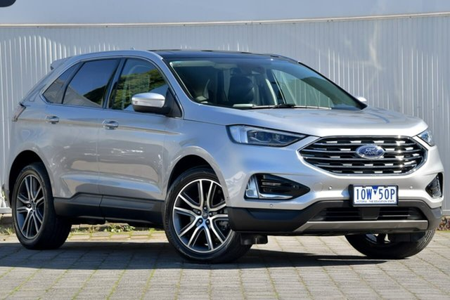 Used Ford Endura CA 2019MY Titanium Dandenong, 2019 Ford Endura CA 2019MY Titanium Silver, Chrome 8 Speed Sports Automatic Wagon