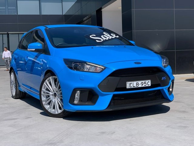 Used Ford Focus LZ RS AWD Liverpool, 2017 Ford Focus LZ RS AWD Blue 6 Speed Manual Hatchback