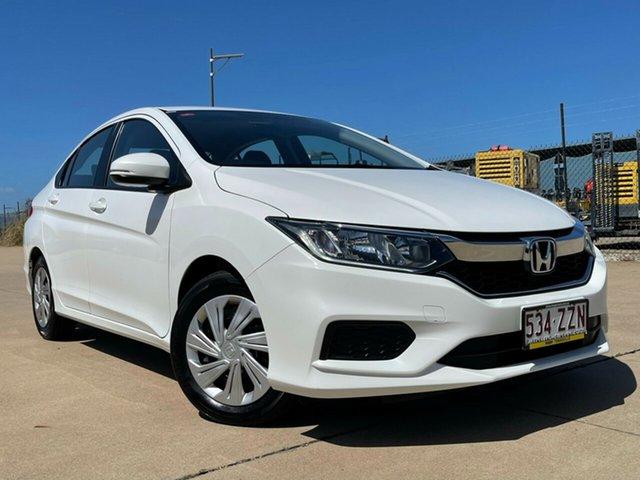 Used Honda City GM MY18 VTi Townsville, 2017 Honda City GM MY18 VTi White 5 Speed Manual Sedan