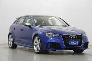 2015 Audi RS 3 8V MY16 Sportback S Tronic Quattro Blue 7 Speed Sports Automatic Dual Clutch
