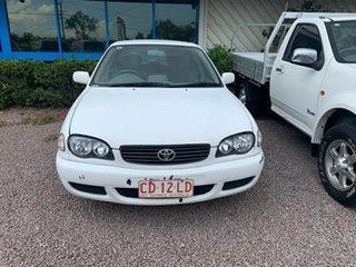 2000 Toyota Corolla AE112R Ascent White 4 Speed Automatic Sedan.