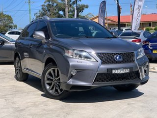 2013 Lexus RX GYL15R MY12 RX450h F Sport Grey 6 Speed Constant Variable Wagon Hybrid.