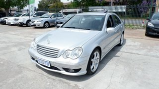 2007 Mercedes-Benz C-Class W203 MY07 C180 Kompressor Super Sport Silver 5 Speed Automatic Sedan.