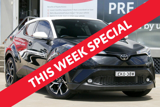 Used Toyota C-HR NGX50R Update Koba (AWD) Guildford, 2018 Toyota C-HR NGX50R Update Koba (AWD) Ink & White Roof Continuous Variable Wagon