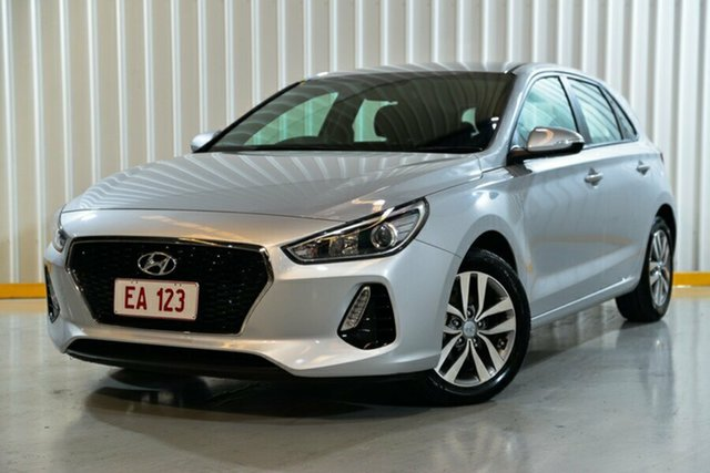 Used Hyundai i30 PD2 MY18 Active Hendra, 2018 Hyundai i30 PD2 MY18 Active Silver 6 Speed Sports Automatic Hatchback