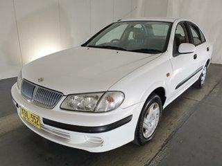 2001 Nissan Pulsar N16 ST White 4 Speed Automatic Sedan.