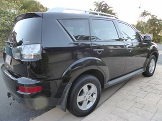 2009 Mitsubishi Outlander ZG MY09 LS Black 6 Speed CVT Auto Sequential Wagon