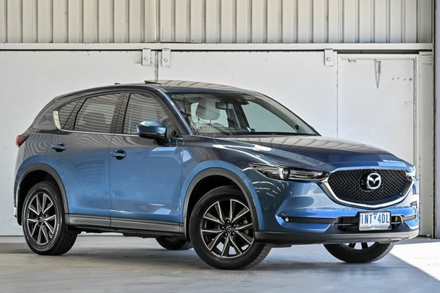 Used Mazda CX-5 KF4WLA GT SKYACTIV-Drive i-ACTIV AWD Laverton North, 2018 Mazda CX-5 KF4WLA GT SKYACTIV-Drive i-ACTIV AWD Blue 6 Speed Sports Automatic Wagon