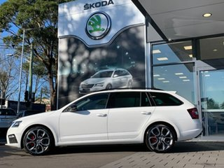 2020 Skoda Octavia NE MY20.5 RS DSG 245 White 7 Speed Sports Automatic Dual Clutch Wagon.