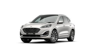 2020 Ford Escape ZH 2021.25MY Vignale Frozen White 8 Speed Sports Automatic SUV.