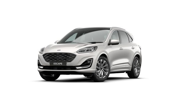 New Ford Escape ZH 2021.25MY Vignale Elizabeth, 2020 Ford Escape ZH 2021.25MY Vignale White Platinum 8 Speed Sports Automatic SUV