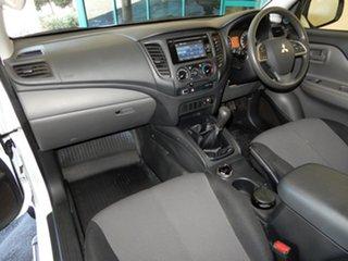 2017 Mitsubishi Triton MQ MY18 GLX (4x4) White 6 Speed Manual Club Cab Chassis.