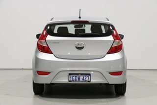 2017 Hyundai Accent RB4 MY17 Active Silver 6 Speed CVT Auto Sequential Hatchback