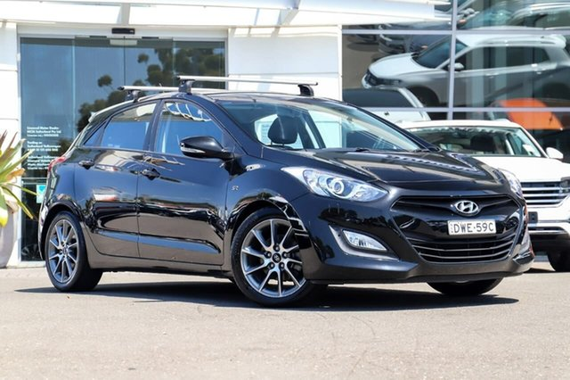 Used Hyundai i30 GD2 SR Sutherland, 2013 Hyundai i30 GD2 SR Black 6 Speed Sports Automatic Hatchback