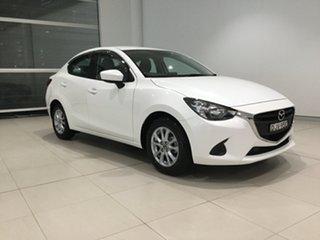 2016 Mazda 2 DL2SAA Maxx SKYACTIV-Drive White 6 Speed Sports Automatic Sedan.