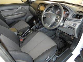 2017 Mitsubishi Triton MQ MY18 GLX (4x4) White 6 Speed Manual Club Cab Chassis