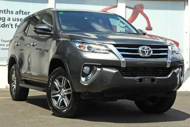 Pre-Owned Toyota Fortuner GUN156R GXL Ferntree Gully, 2018 Toyota Fortuner GUN156R GXL Dark Grey 6 Speed Automatic Wagon