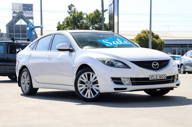 Used Mazda 6 GH1051 MY09 Luxury Kirrawee, 2009 Mazda 6 GH1051 MY09 Luxury White 5 Speed Sports Automatic Sedan
