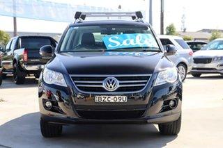 2011 Volkswagen Tiguan 5N MY11 125TSI DSG 4MOTION Black 7 Speed Sports Automatic Dual Clutch Wagon